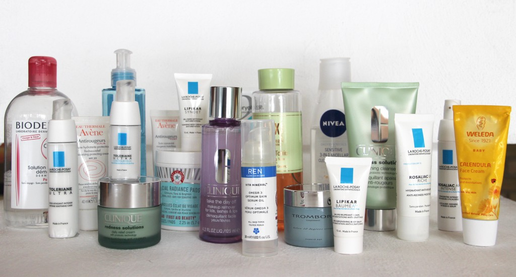 Products from my skincare routine - I know, I need to relax!