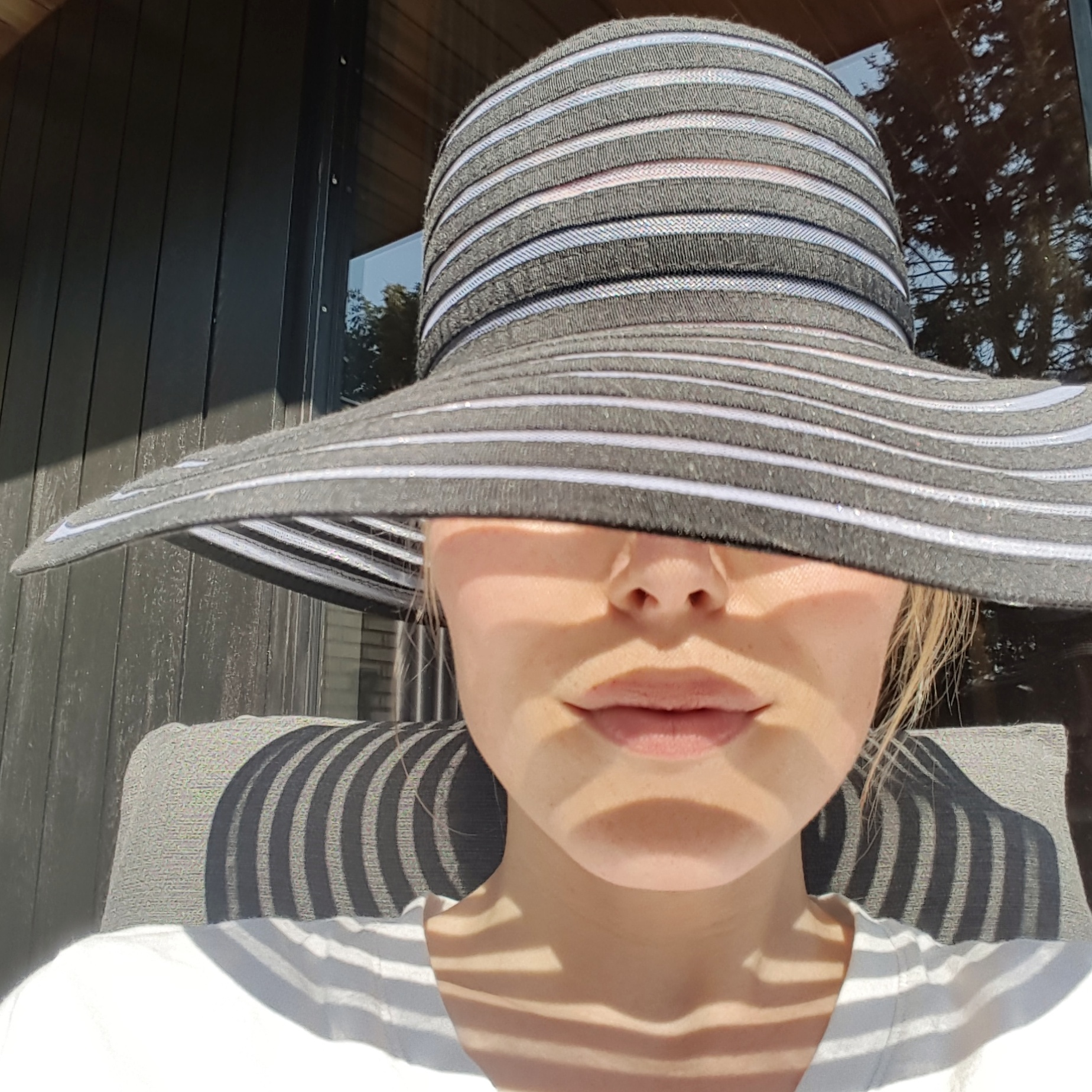 Wear a sunhat for good sun protection of your face and neck