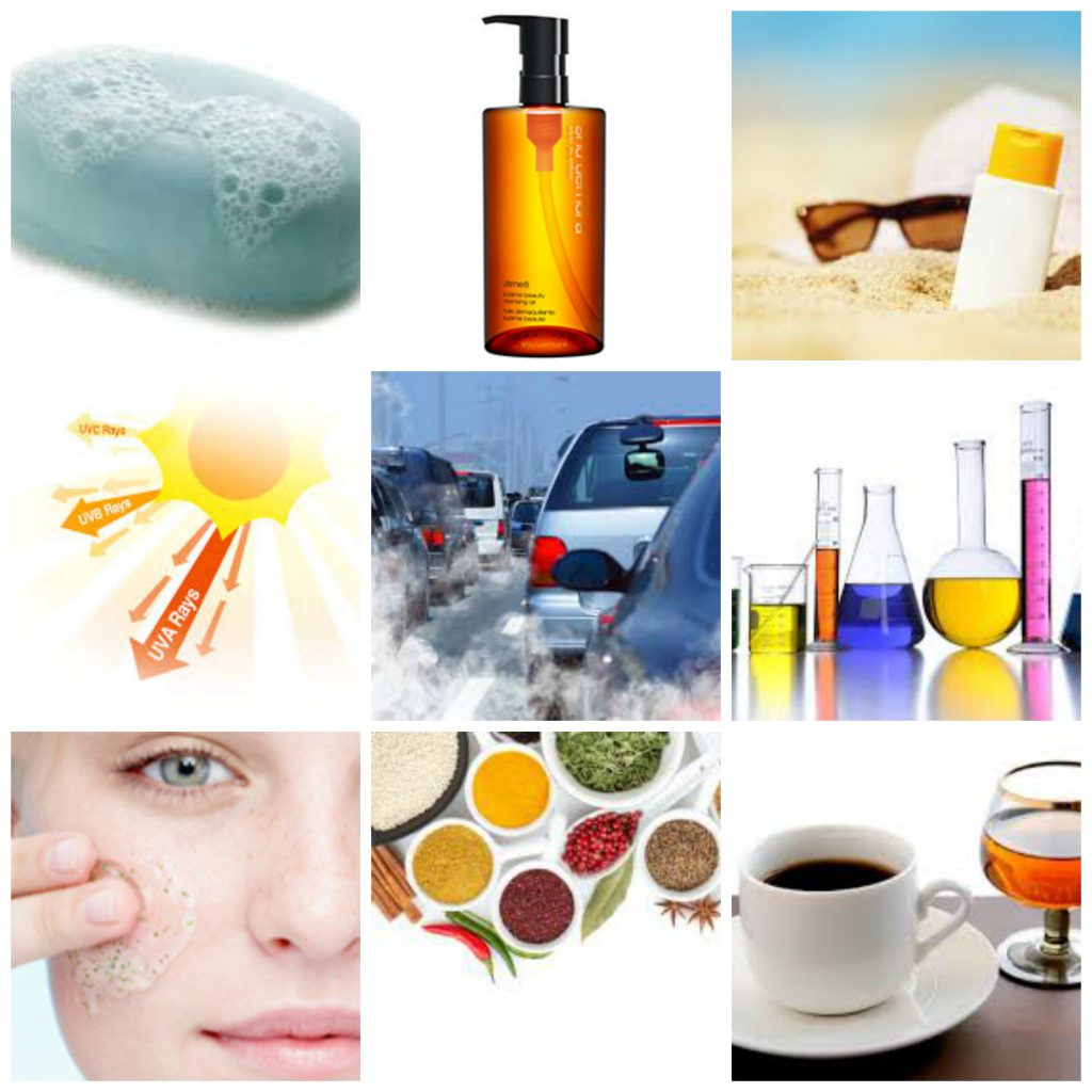 Exogenous factors for sensitive skin