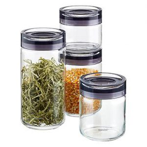 Choose glas containers for food storage when possible